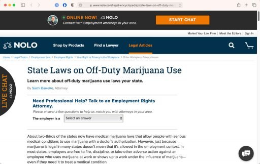 Link to Nolo state marijuana laws